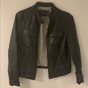 Members Only - Black leather jacket